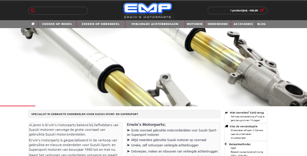 Erwin's Motorparts Webshop sneak preview