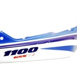 Fairing Rear right GSX-R1100 1991 White / Blue