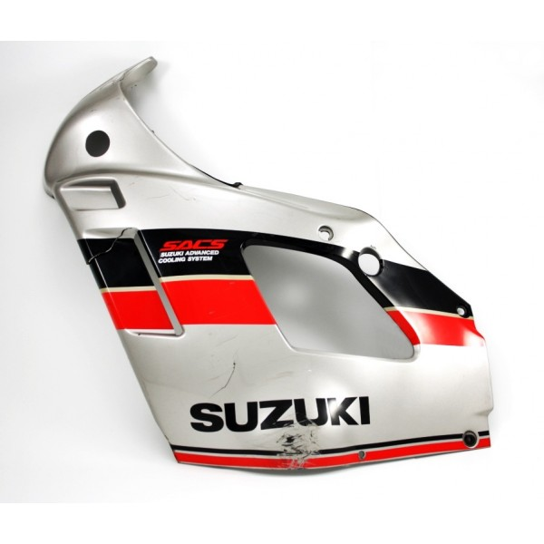 Fairing Side Left GSX600F 1989 Grey / Black / Red/ White
