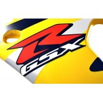 Fairing Side left GSX-R750 2001 Yellow / Black / Red